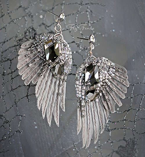 "Handmade earrings ""Silver Rain"""