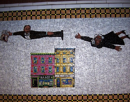 Flying Home - Harlem Heroes and Heroines. Harlem Heroes mosaics