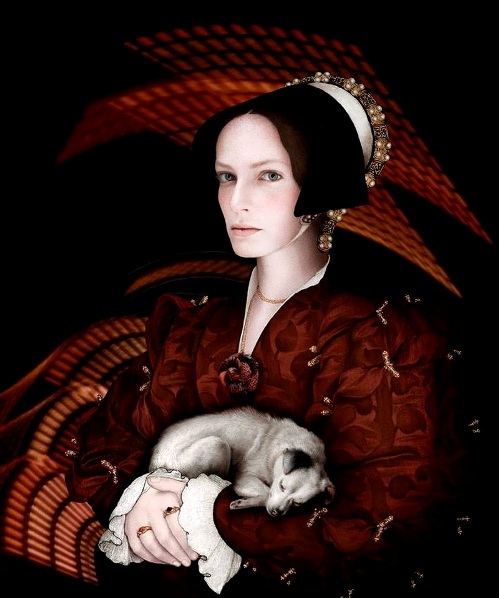 Hans Holbein. Photoart by French artist Sabine Pigalle