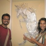 Recycled art by Indian sculptor Haribaabu Naatesam