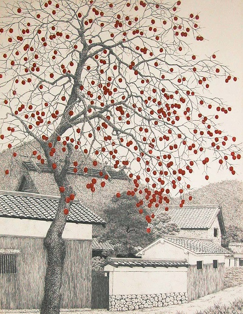 Hyperrealistic etching by Japanese artist Tanaka Ryohei
