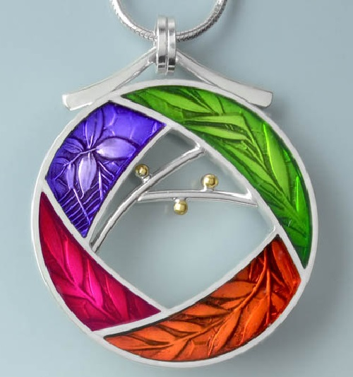 It follows the sun. This pendant design is inspired by the turning of the seasons