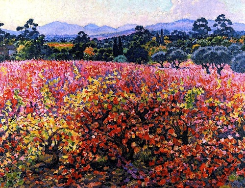 La Vigne en October. Painting by Theo Van Rysselberghe