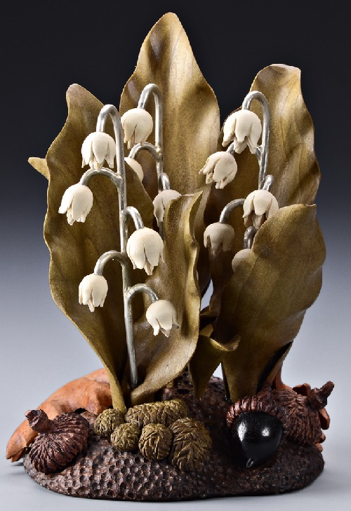 Lily's Of The Valley. Wood art by Denise Nielsen and George Worthington