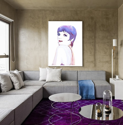Liza Minnelli. Portrait in interior