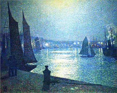 Moonlight Night in Boulogne, 1919