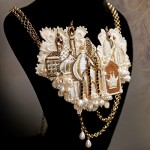 handmade necklace created by Julia Gorina