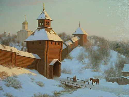 Old times. Painting by Viktor Tormosov