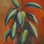 'Ficus'. Painting by Moscow based Elina Forget-me-not