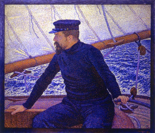 Paul Signac at the helm of the Olympia, 1896