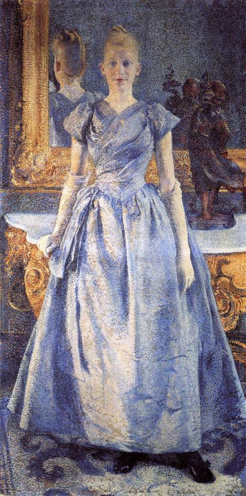 Portrait of Alice Sethe. Painting by Theo Van Rysselberghe, 1888