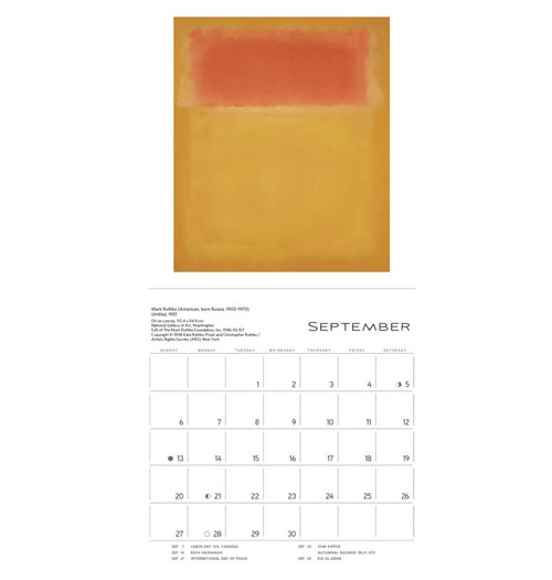 Rothko 2015 Mini Wall Calendar