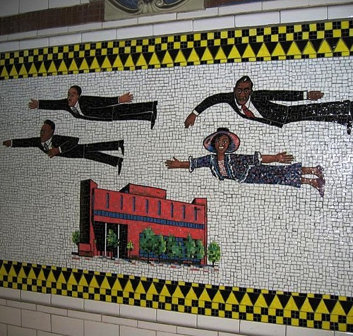 Schomburg Center for Research of Black Culture. Harlem Heroes mosaics