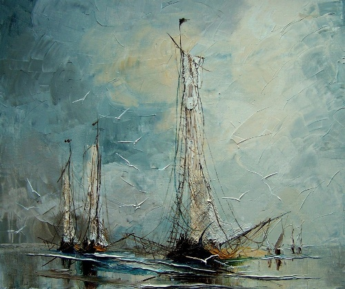 Seascape painting by Justyna Kopania