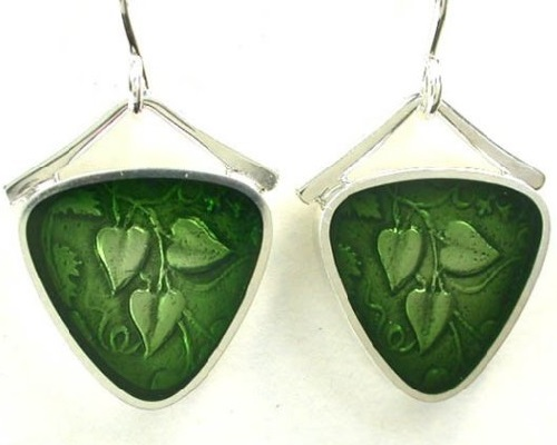 Sterling silver and precious metal clay earrings