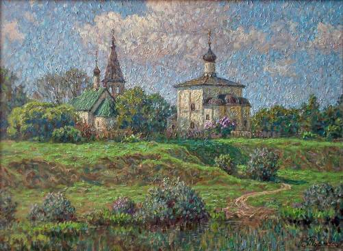 Suzdal. Painting by Viktor Tormosov