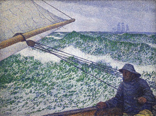 The Man at the Helm. Painting by Theo Van Rysselberghe, 1892