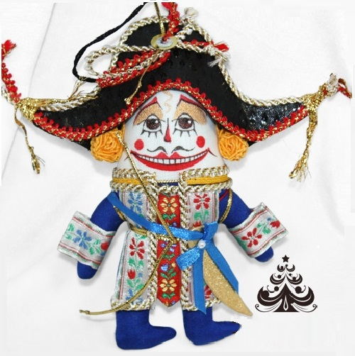 The Nutcracker. Christmas decorations of a copyrighted work with the elements of the porcelain