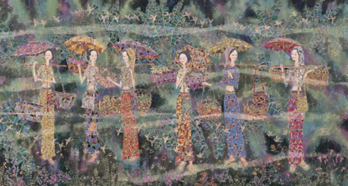 The sights and the soinds of spring. Chinese painter Sun Jianlin
