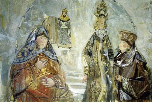 The Tale of Tsar Saltan. Painting by Valery Arkhipov