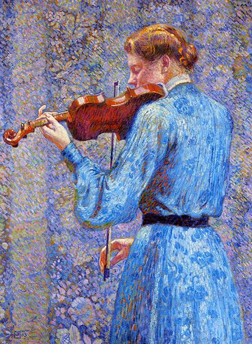 The Violinist. Painting by Theo Van Rysselberghe, 1903