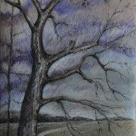 A tree. Painting by Moscow based Elina Forget-me-not