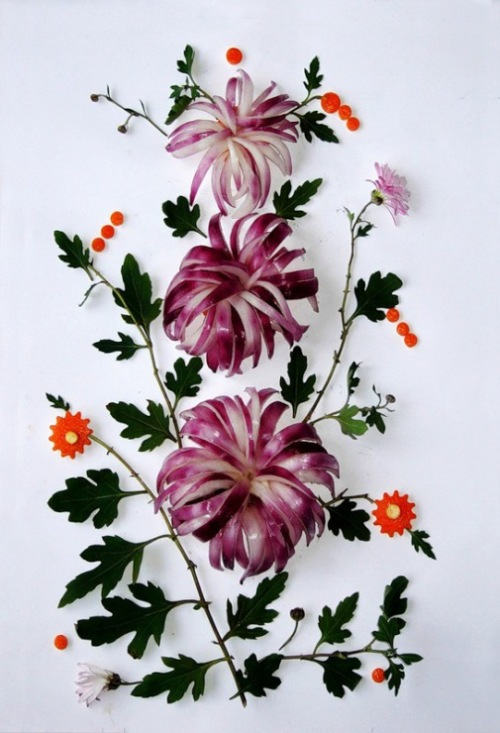 Vegetable painting by Ukrainian food artist Tamara Bondar