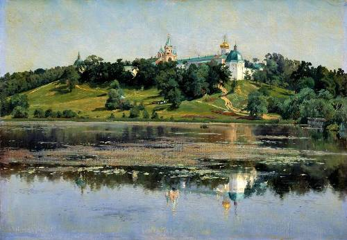Zvenigorod. Painting by Russian landscape painter Konstantin Kryzhitsky