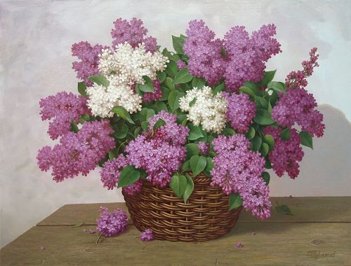 lilac. Painting by Viktor Tormosov