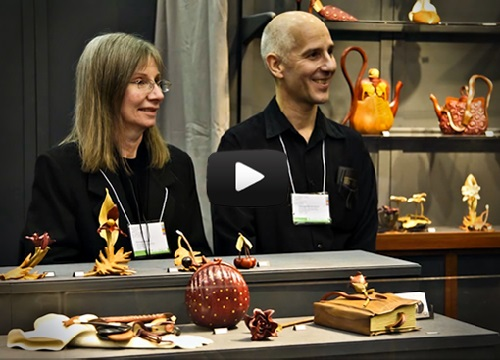 wood artists Denise Nielsen and George Worthington