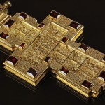 Archpriest premium cross with decorations (closeup)
