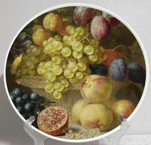 Decorative plate 'Dutch artists. Arnoldus Bloemers. Still Life with Grapes'
