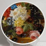 Decorative plate 'Dutch artists. Arnoldus Bloemers. Still Life with flowers'