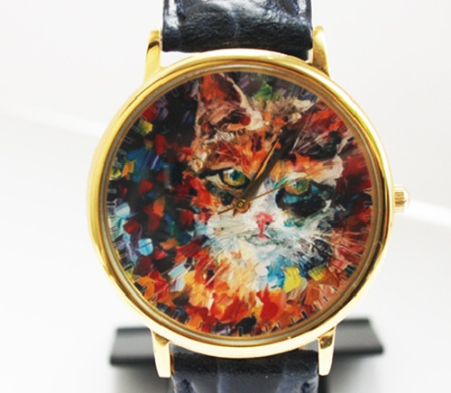 Cat. Designer's watches handmade by JK