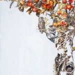 "Detail of painting ""Drunk in autumn"" by Chinese artist Zhao Na"