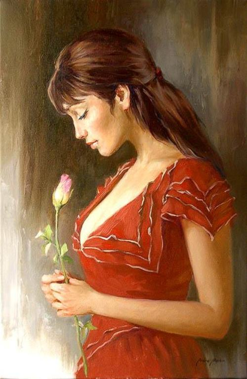 Female portrait. Painting by Andrei Markin