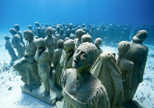 2014 in art. First underwater art museum called MUSA (Museo Subacuatico de Arte)