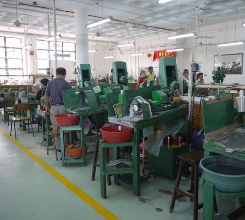 The factory where all this beautiful gemstone art is made