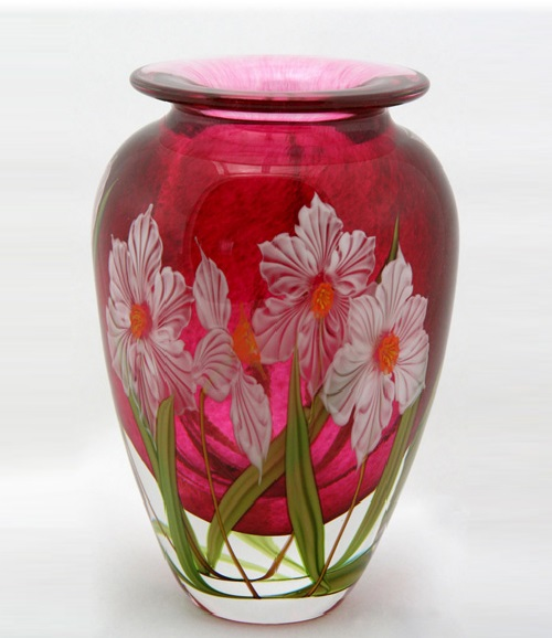 Hand-Blown Art Glass Vase