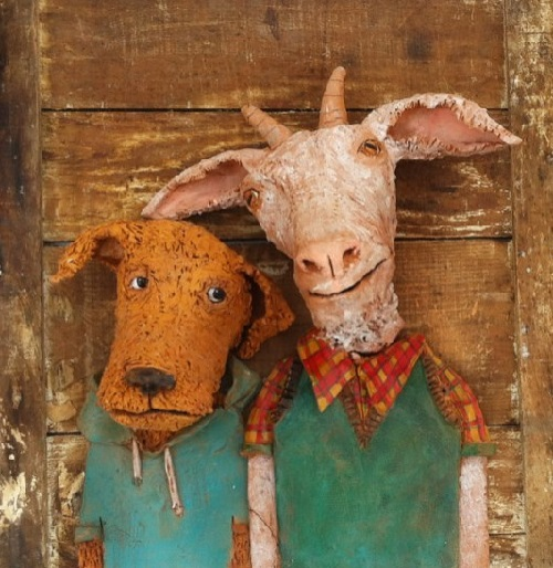 Ceramic animals by Giorgio di Palma