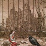 Gerda flees and meets a crow, who tells her that Kai is in the princess's palace