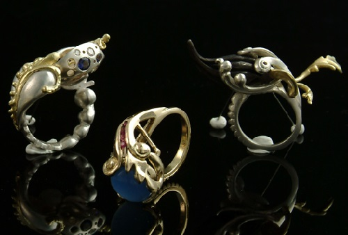 Jewelry art works by Jasmine Thomas-Girvan