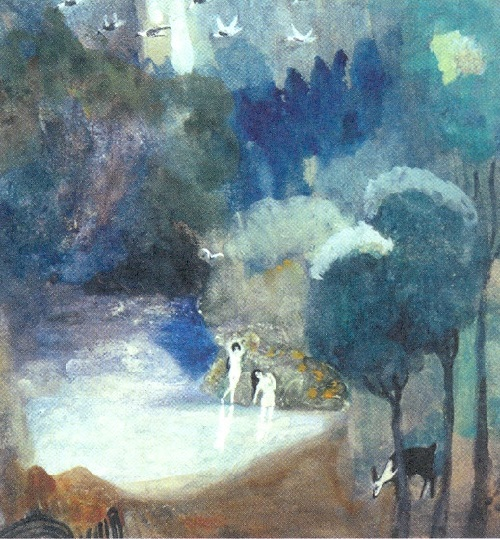 Ghosts in painting. Martiros Saryan. Lake of fairies. 1905