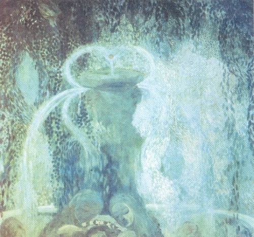 Ghosts in painting. Pavel Kuznetsov 'Blue Fountain', 1905. State Tretyakov Gallery, Moscow