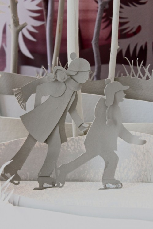 Scene Detail, cover of winter 2012 Holland Herald magazine. Paper art by Helen Musselwhite