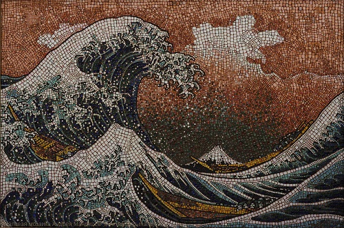 The Great Wave, on K. Hokusai picture