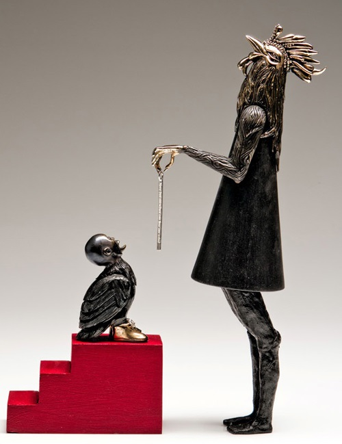 The Message. Sculptor jeweler Jasmine Thomas-Girvan