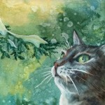 Winter cat. Moscow Arena art exhibition 'Cats in Manezh' (30 December 2014 to 20 January 2015)