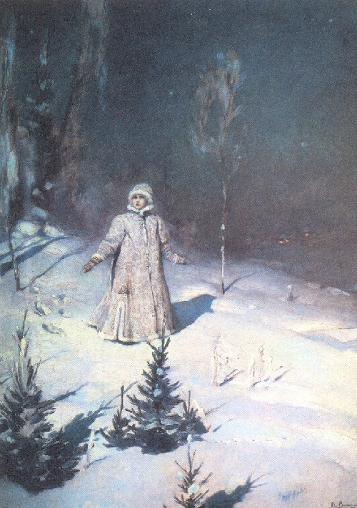 Snow Maiden by Viktor Vasnetsov. Sketches of theatrical costumes. 1885
