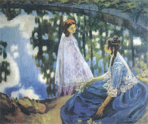 Ghosts in painting. Viktor Borisov-Musatov 'Pond'. 1902